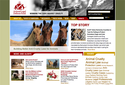 Animal Legal Defense Fund screenshot
