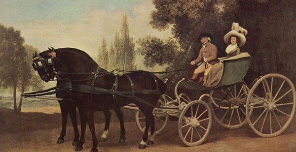 Lady and Gentleman in a Carriage - George Stubbs