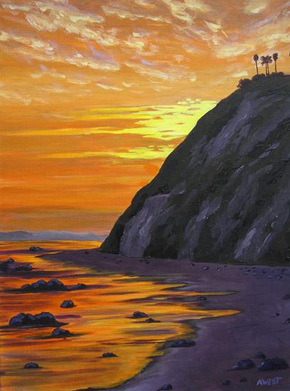 Golden Evening at Hendry's Beach