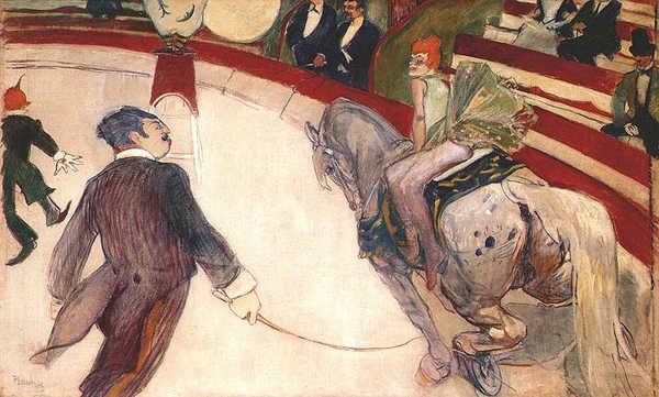 Equestrienne at the Cirque Fernando - Henri de Toulouse-Lautrec