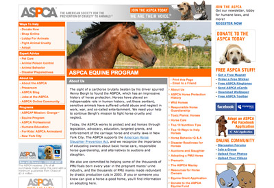 ASPCA Equine Program screenshot