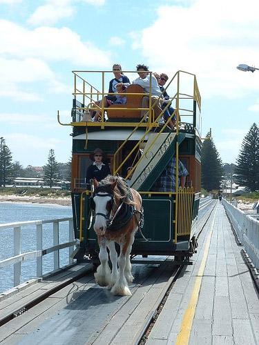 Horse drawn tram in Australia
