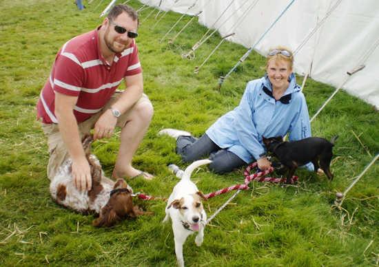 Robin's partner & lively dogs