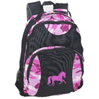 Pink Camo Galloping Horse Backpack
