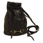 Troy Leather Mini Duffel Bag w/Snaffle Bit