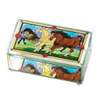 Glass Horse Trinket Box