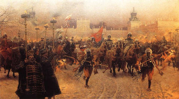 John III Sobieski Departing from Wilanow