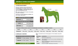 Horse Feed Calculator