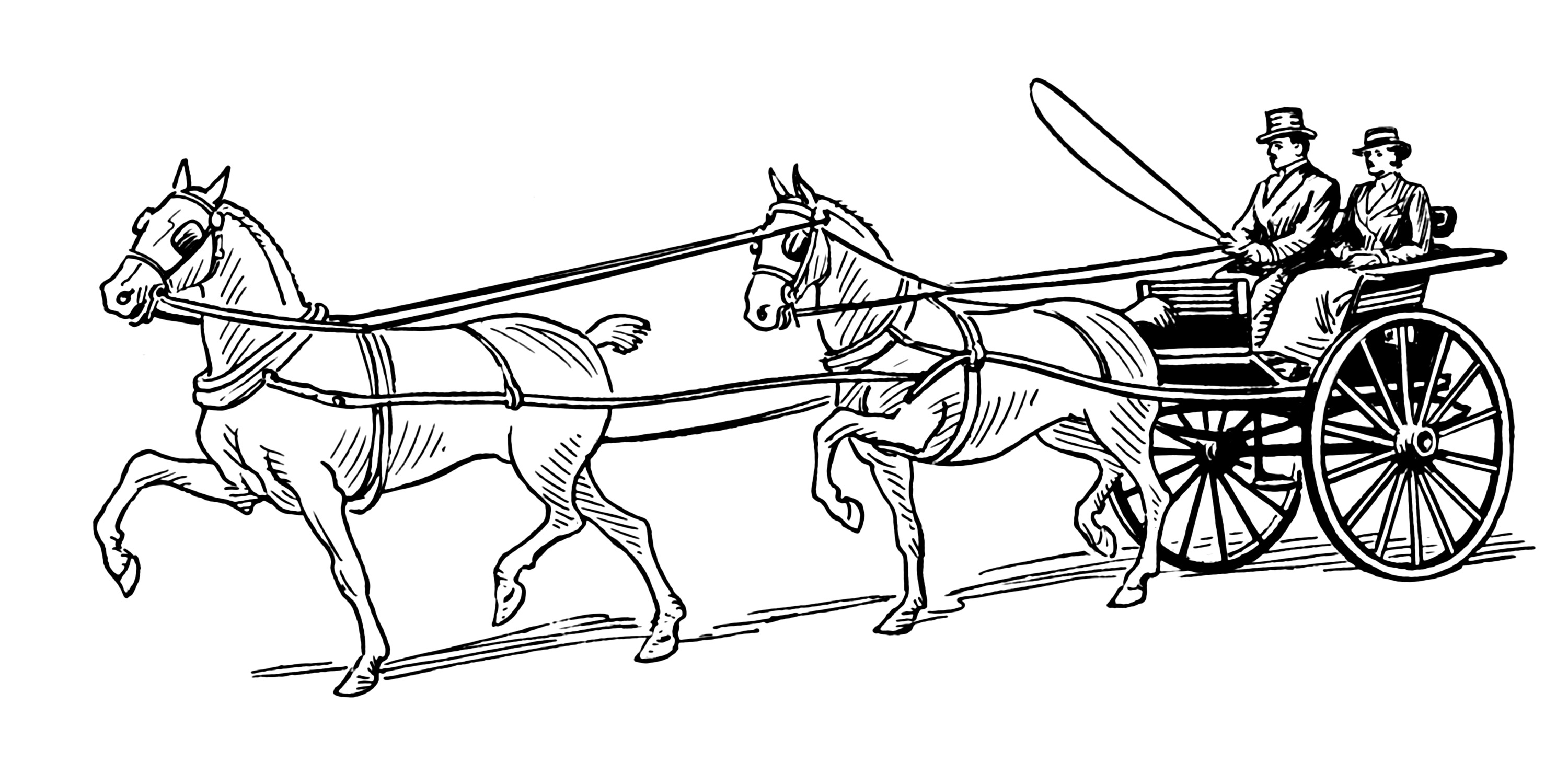 santa horse buggy coloring pages - photo#14