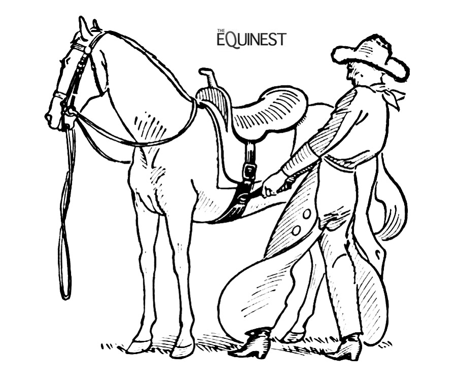 Horse Coloring Page Medium