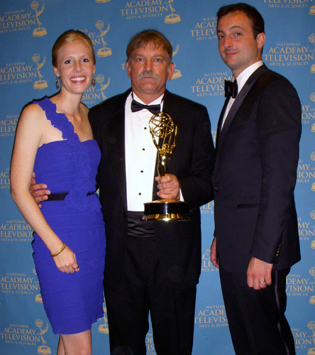Darley, Greg Barna & Chip Ward with Equitrekking's Daytime Emmy
