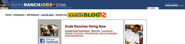 Dude Ranch Jobs
