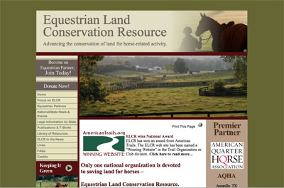 Equestrian Land Conservation Resource screenshot