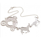 Tatty Devine Horse & Carriage Necklace