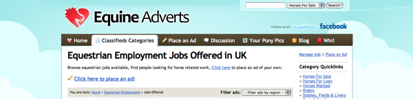Equine Adverts