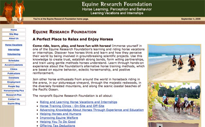 Equine Research Foundation screenshot