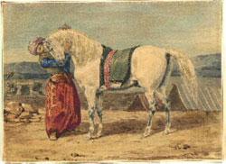 Turk Stroking His Horse