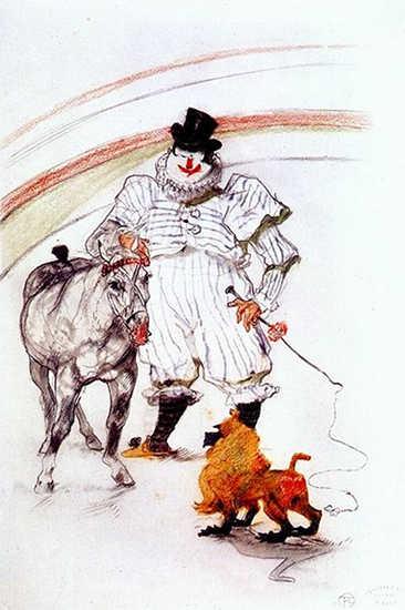 Henri de Toulouse-Lautrec - At the Circus, Horse and Monkey Dressage