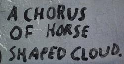 A Chorus of Horse Shaped Cloud