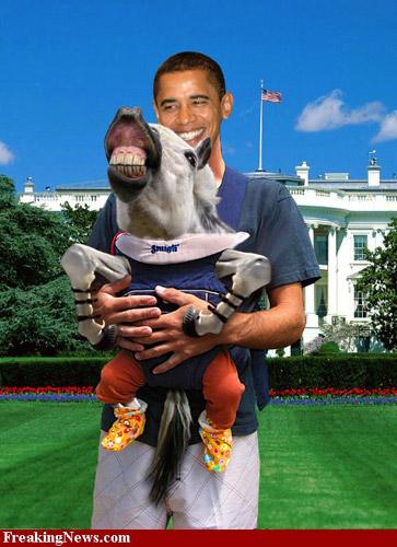 Photoshopped Obama and the white horse