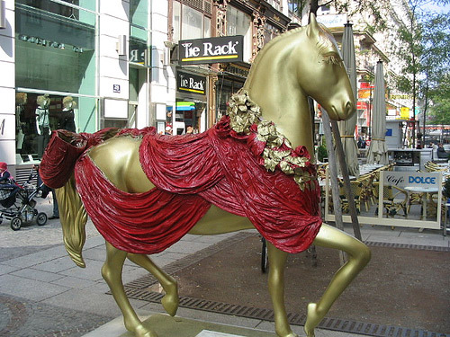 Painted horse in Vienna
