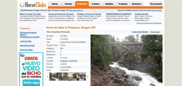 Horse Clicks Property Listing