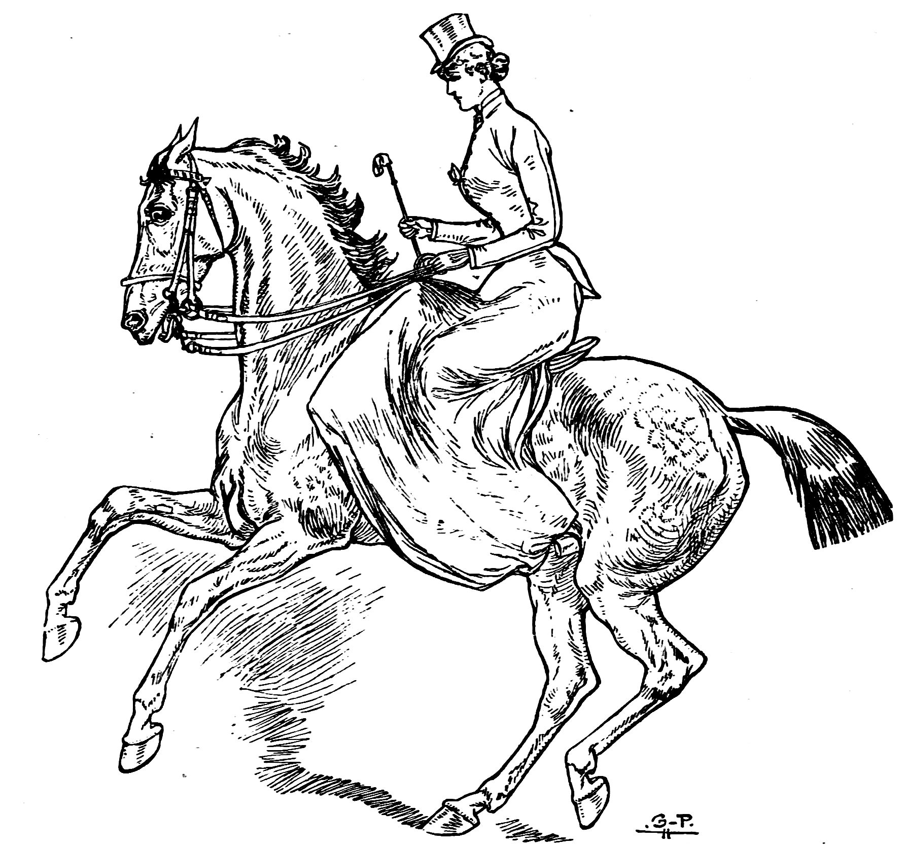 Paard Met Ruiter Kleurplaat Horsemanship For Women Line Drawings To Color The Equinest