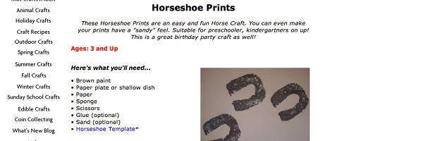 Sponge Horseshoe Prints