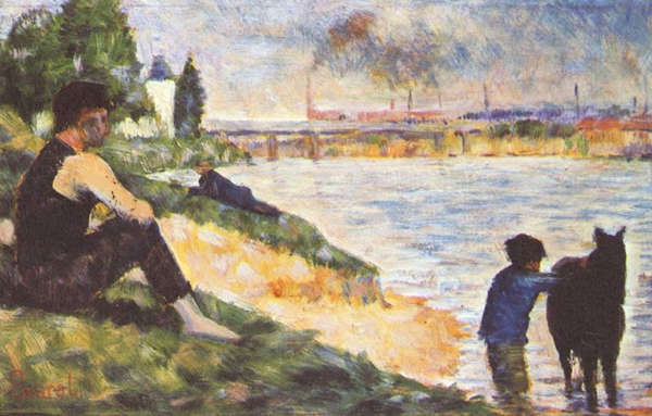 Boy with Horse - Georges Seurat