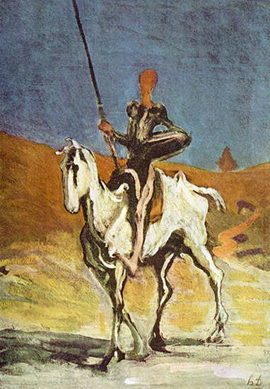 Don Quichotte and Sancho Pansa - Honoré Daumier