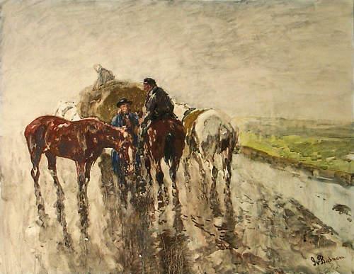 A Rainy Day - Gregor von Bochmann
