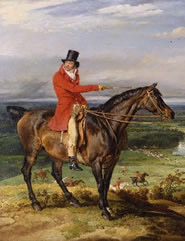 Theophilus Levett Hunting at Wychnor, Staffardshire