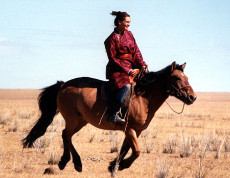 Julia Roberts on horseback