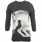 Finger in the Nose Grey Horse Tee