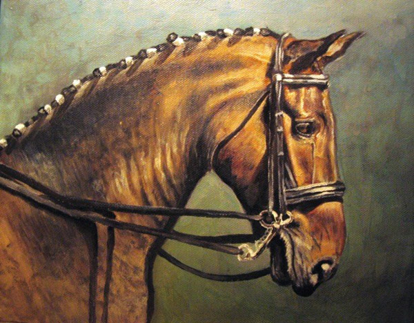 Bay Horse in Oils