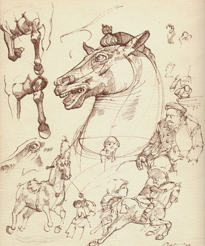 Leonardo da Vinci Horse Sketch