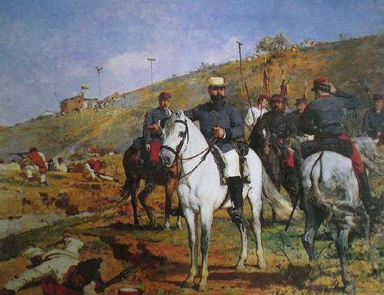 Joaquín Crespo at the Battle of Los Colorados