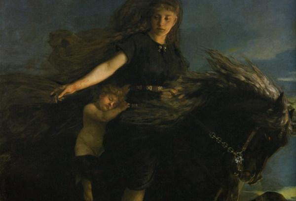 Nótt riding Hrímfaxi - Peter Nicolai Arbo