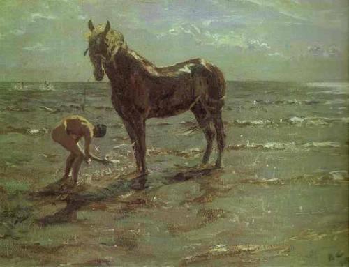 Bathing of a Horse - Valentin Serov