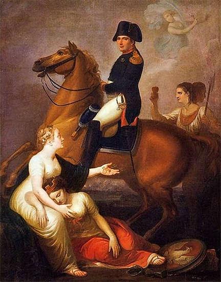 Allegorical scene with Napoleon - Józef Peszka