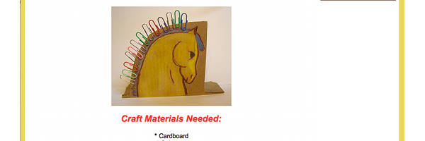 Horse Paperclip Holder