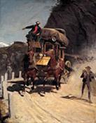 Zweispännige Gotthardpost