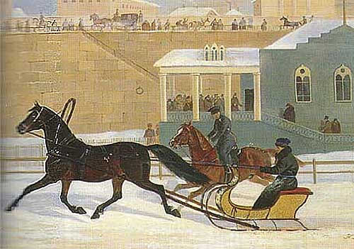 Trotter with Racing Sleigh - Nikolai Sverchkov