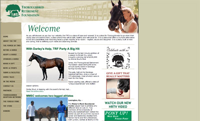 Thoroughbred Retirement Foundation screenshot