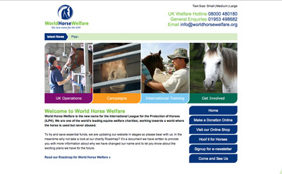 World Horse Welfare screenshot